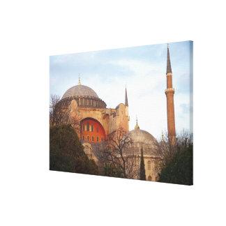 Hagia Sophia inaugurated by the Byzantine Canvas Print