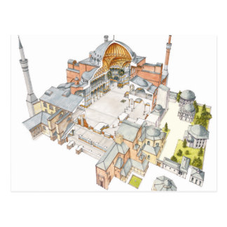 Hagia Sophia. Istambul Turquey. Postcard