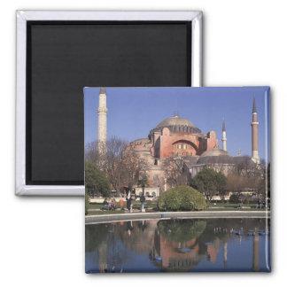 Hagia Sophia, Istanbul, Turkey Square Magnet