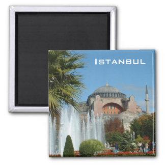 Hagia Sophia Square Magnet