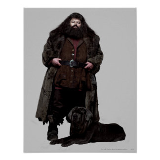 Hagrid and Dog Poster