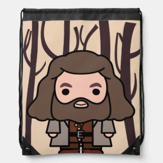 Hagrid Cartoon Character Art Drawstring Bag