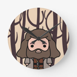 Hagrid Cartoon Character Art Round Clock