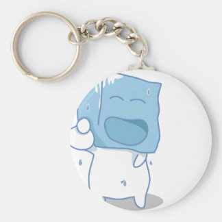 Haha Ice cube Basic Round Button Key Ring