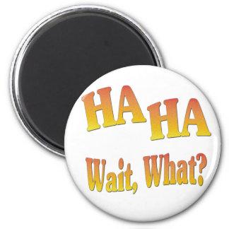 HaHaWaitWhat6 Fridge Magnet