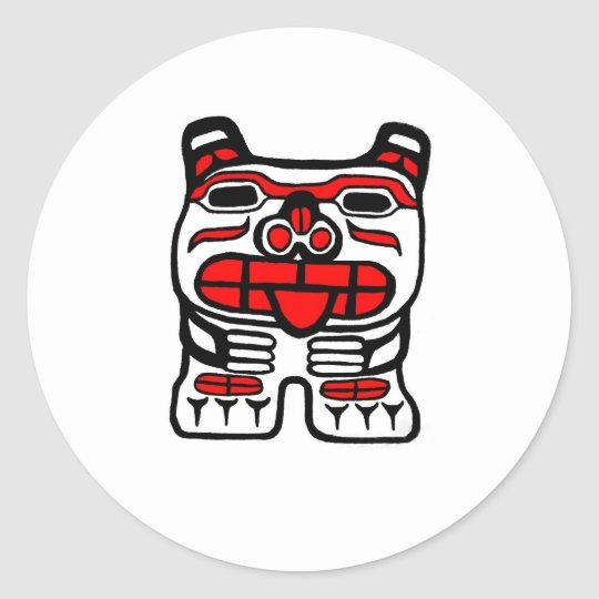 Haida Bear Round Sticker