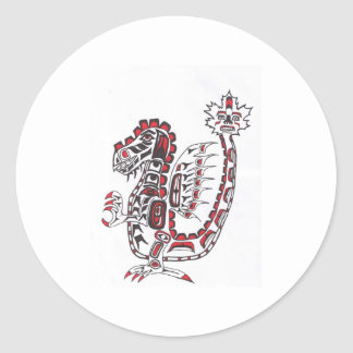 Haida Dragon Classic Round Sticker