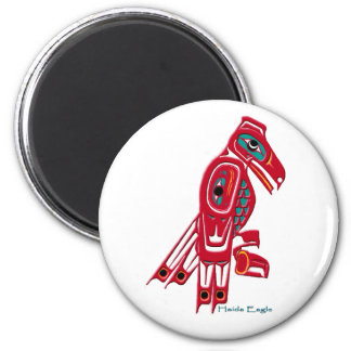 HAIDA EAGLE Collection 6 Cm Round Magnet
