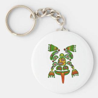 Haida frog key ring