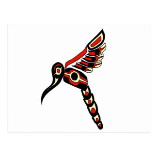 Haida Humming Bird Postcard
