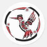 Haida Hummingbird Round Sticker