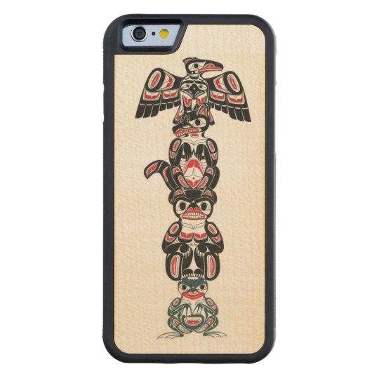 Haida Indian Totem Design Maple iPhone 6 Bumper