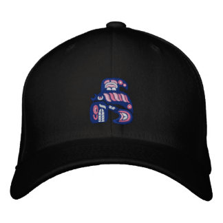Haida killer whale embroidered hat