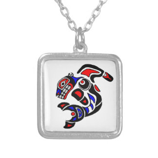 Haida Orca  2014 Silver Plated Necklace