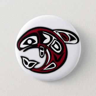 Haida Orca Northwest Coast Killer Whale Art 6 Cm Round Badge