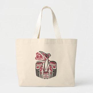 Haida Raven Design Jumbo Tote Bag