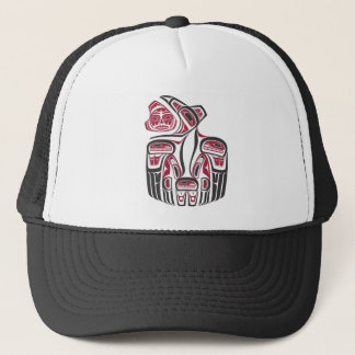 Haida Raven Design Trucker Hat