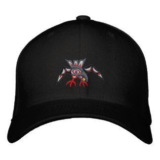 Haida Raven Fly away Embroidered Baseball Cap