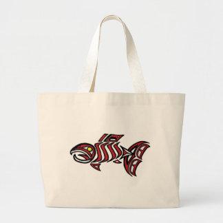 Haida salmon canvas bag