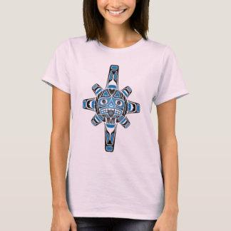 Haida Sun Mask, blue T-Shirt