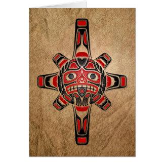 Haida Sun Mask Card