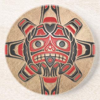 Haida Sun Mask Coasters
