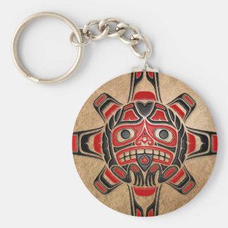Haida Sun Mask Keychains