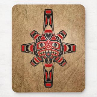 Haida Sun Mask Mouse Pad