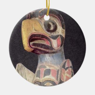 Haida 'Thunderbird' statue (painted wood) Christmas Ornament