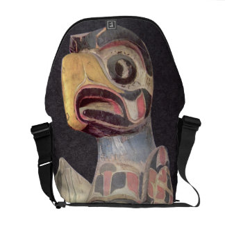 Haida 'Thunderbird' statue (painted wood) Commuter Bags