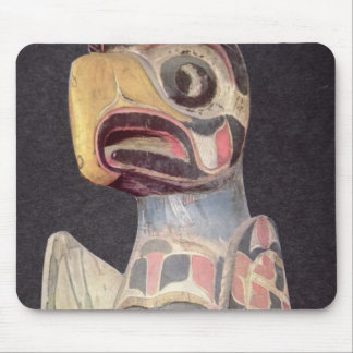 Haida 'Thunderbird' statue (painted wood) Mouse Mat