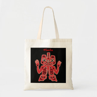Haida Totem in Red Personalized Bag