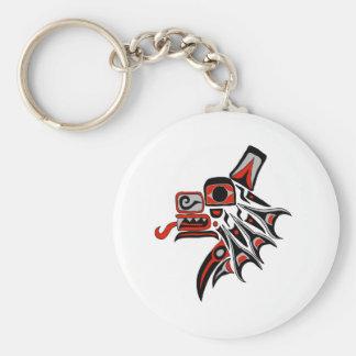 Haida Wolf 2012 Basic Round Button Key Ring