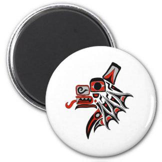 Haida Wolf 2012 6 Cm Round Magnet