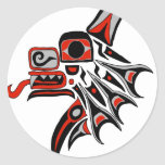 Haida Wolf 2012 Round Stickers
