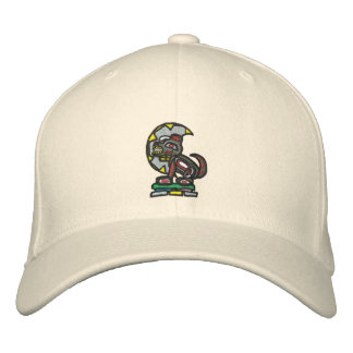 Haida wolf howl embroidered hats