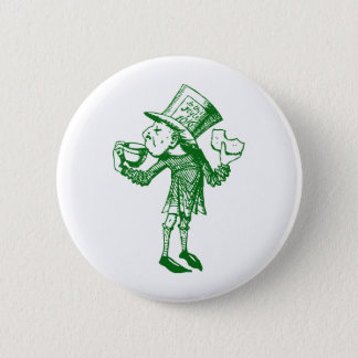 Haigha (Mad Hatter) Inked Green 6 Cm Round Badge