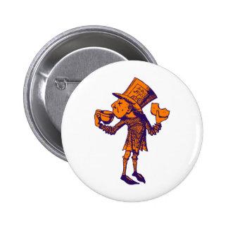 Haigha (Mad Hatter) Inked Purple Orange 6 Cm Round Badge