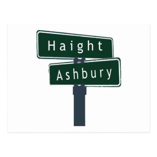 Haight Ashbury Classic Street Sign Postcard