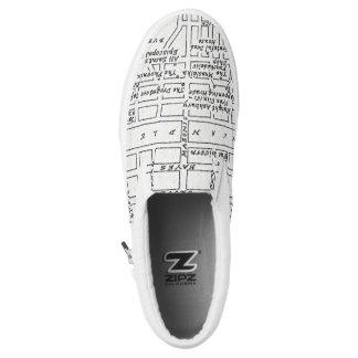 Haight Ashbury Map Printed Shoes