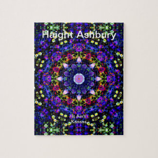 Haight Ashbury Psychedelic  Hippie Fashion Art Jigsaw Puzzle