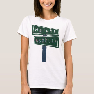 Haight Ashbury Rainbow Street Sign T-Shirt