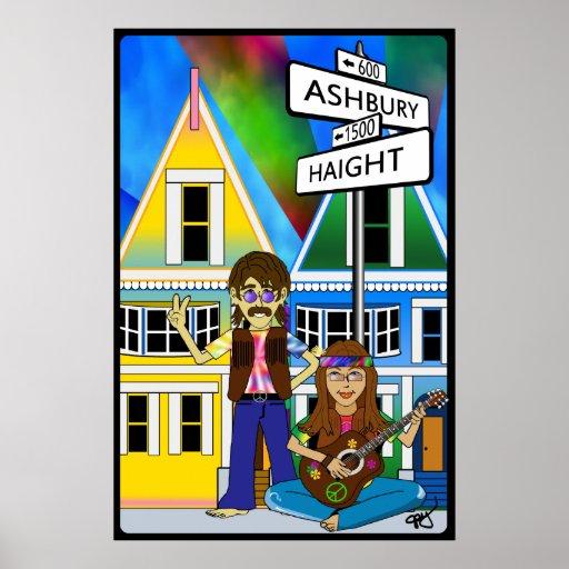 Haight Ashbury Summer of Love Poster