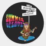 Haight Ashbury Summer of Love Round Sticker