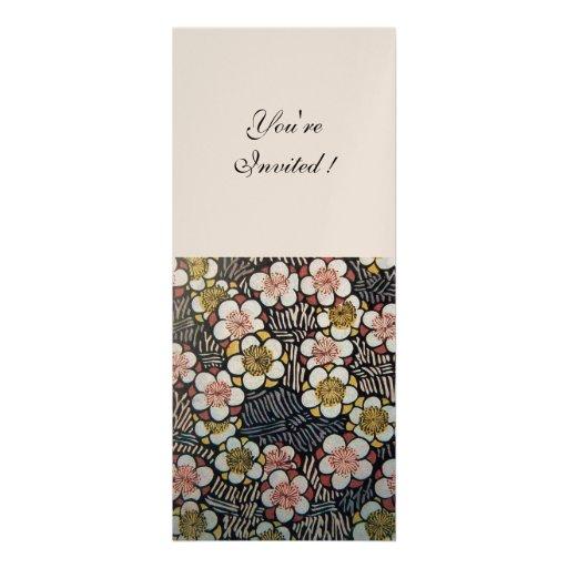 HAIKU pink white brown black, champagne metallic Invitations