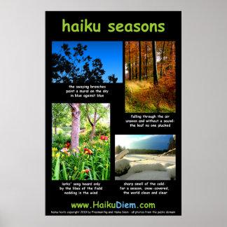 Haiku Seasons poster (black background)