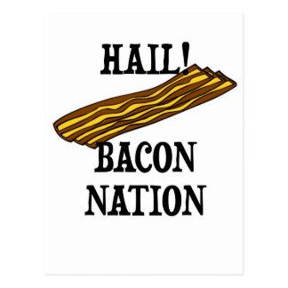 Hail Bacon Nation Postcard
