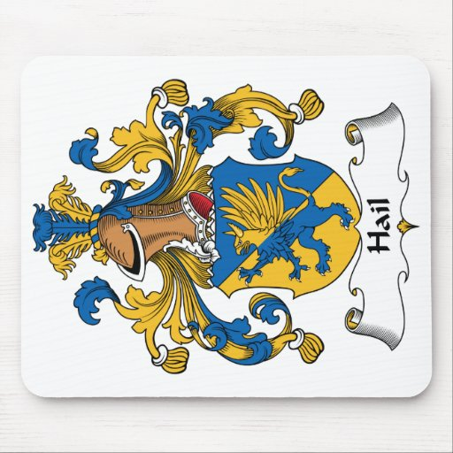 Hail Family Crest Mouse Pads