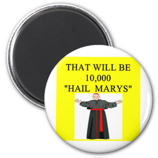 hail mary catholi onfession joke fridge magnets