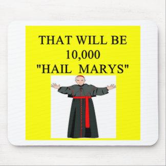 hail mary catholi onfession joke mouse pads